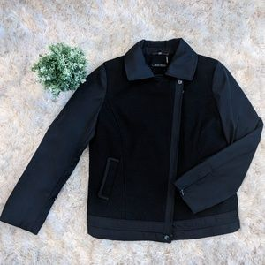 Calvin Klein Black Blended Wool Jacket size 10